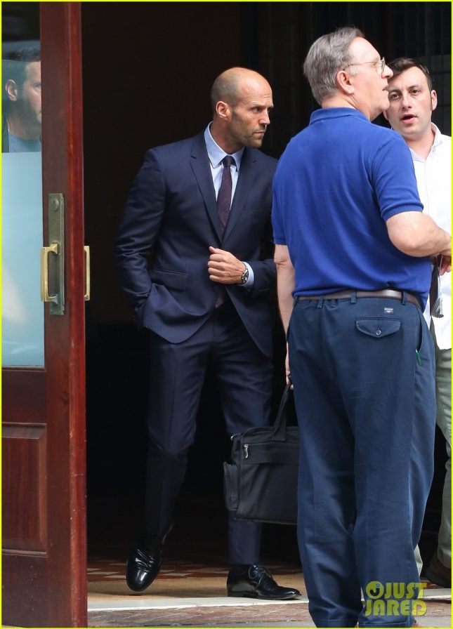 Jason Statham Seen Leaving His Hotel