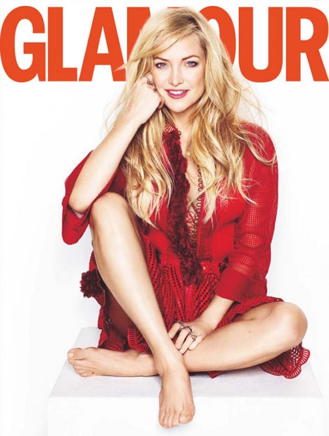 Кейт Хадсон на обложке Glamour UK, июль 2015