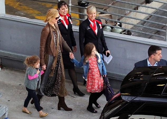 Николь Кидман с дочками