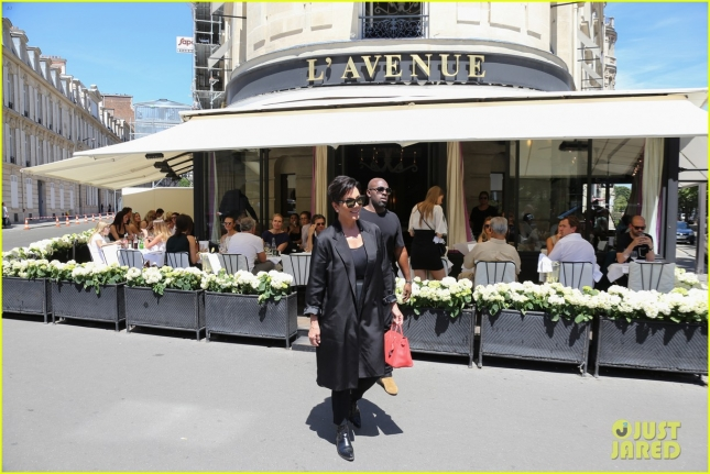 Kris Jenner and Corey Gamble go on a fancy lunch date in Paris **USA, Australia, New Zealand ONLY**