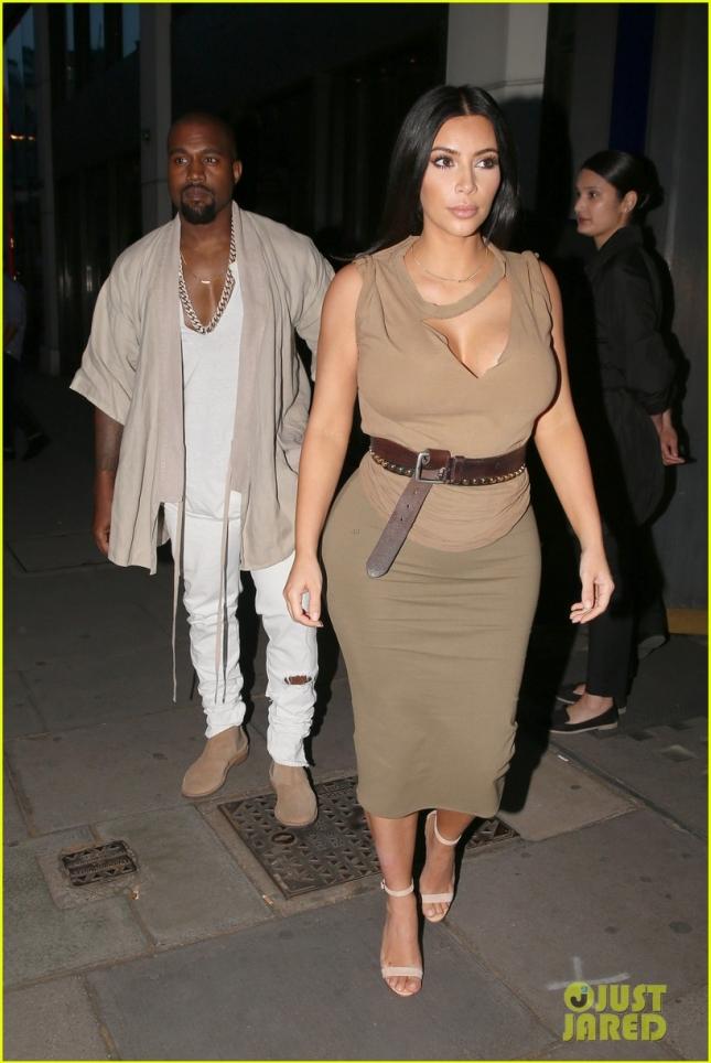 Ким Кардашьян и Канье Уэст поужинали в лондонском ресторане