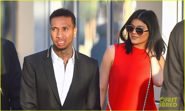 Kylie Jenner and boyfriend Tyga walk arm and arm to a movie date in downtown los angeles