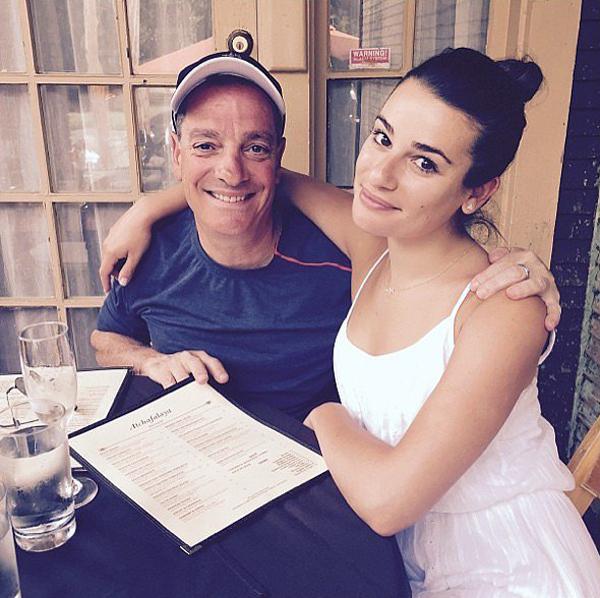 Леа Мишель с отцом