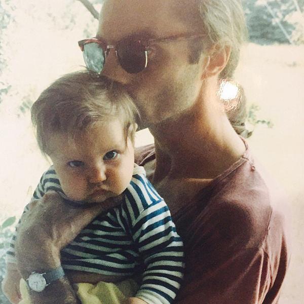 Лена Данэм с отцом