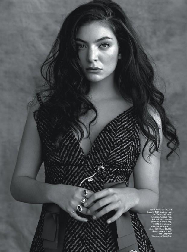 Лорд для Vogue Австралия, июль 2015