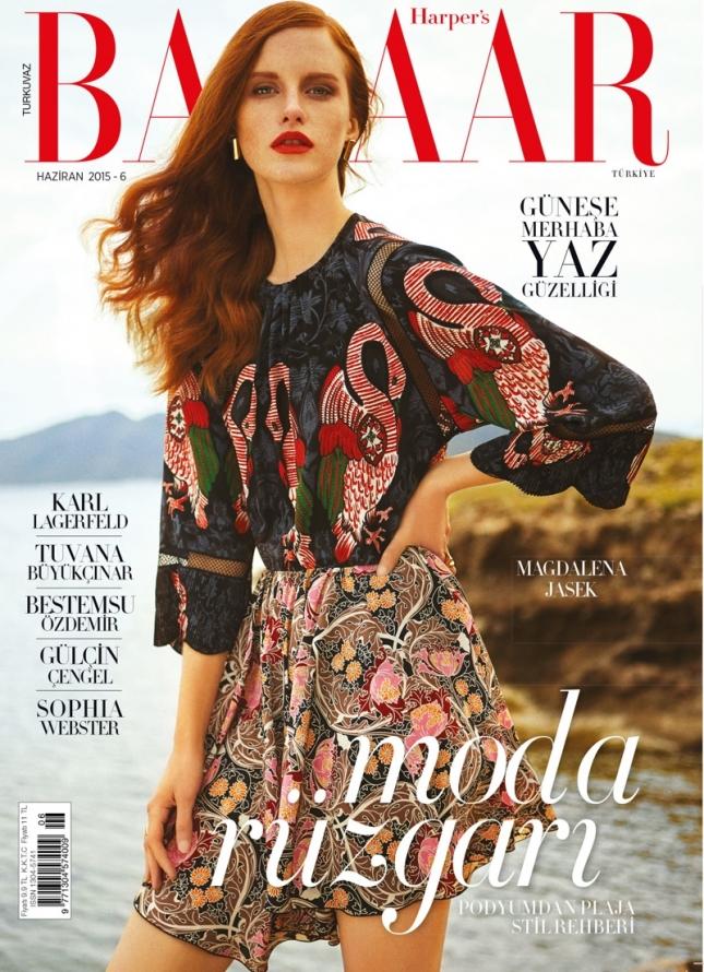 Магдалена Ясек на обложке Harper's Bazaar Турция, июнь 2015