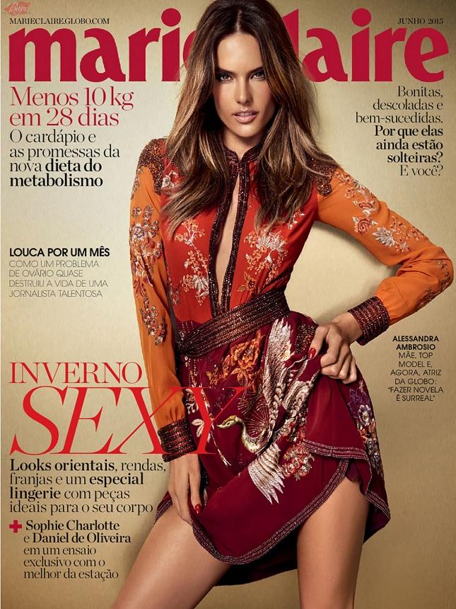 Алессандра Амбросио на обложке Marie Claire Бразилия, июнь 205
