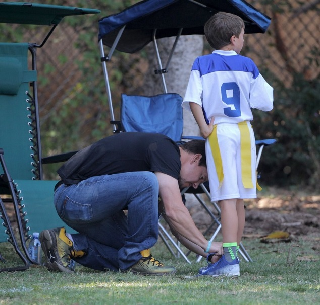 Марк Уолберг с сыном