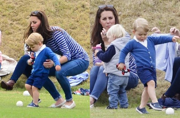 Герцогиня Кэтрин и принц Георг