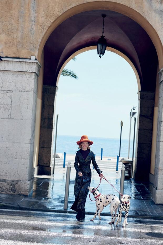 Наталья Водянова и Эдриен Броуди для Vogue US, июль 2015
