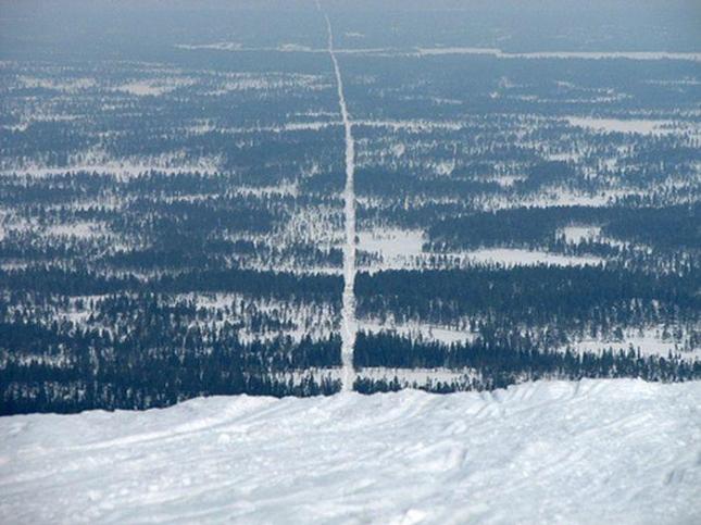 Норвегия и Швеция. Красиво и таинственно - дорога в лесу. Хочешь, сверни в норвежский лес, хочешь, в шведский.