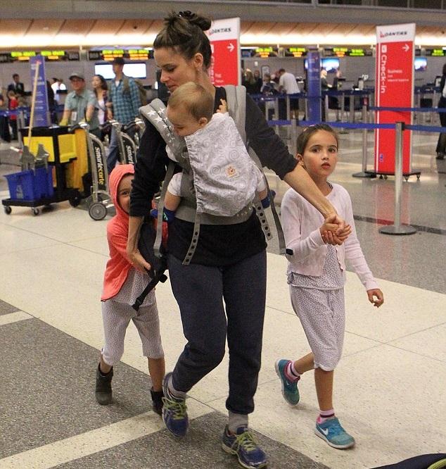 Аманда Пит с детьми
