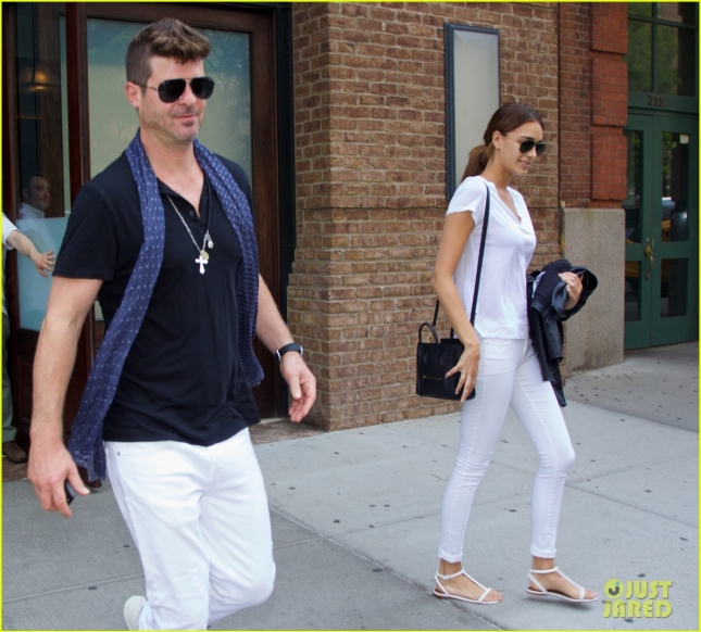 Robin Thicke and new girlfriend April Love Geary in NYC
