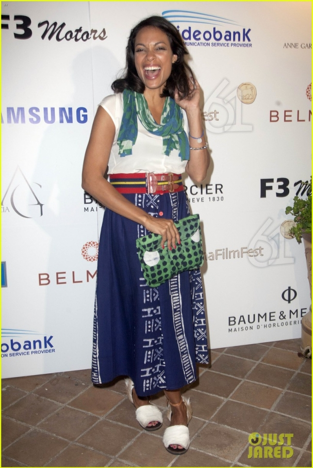 Rosario Dawson Accepts Humanitarian Award at Taormina Film Festival