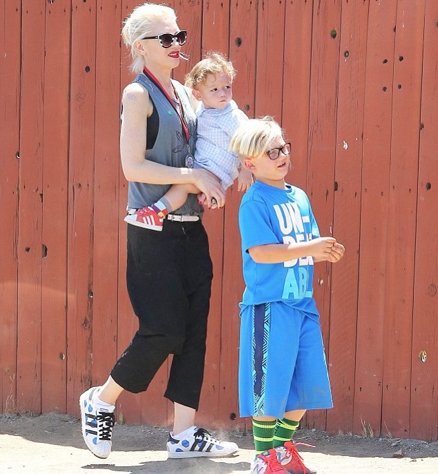 Гвен Стефани  с сыновьями