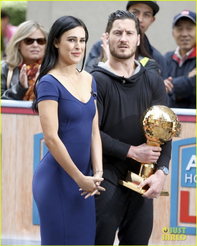 Rumer Willis and Val Chmerkovskiy stop by Access Hollywood Live **USA ONLY**
