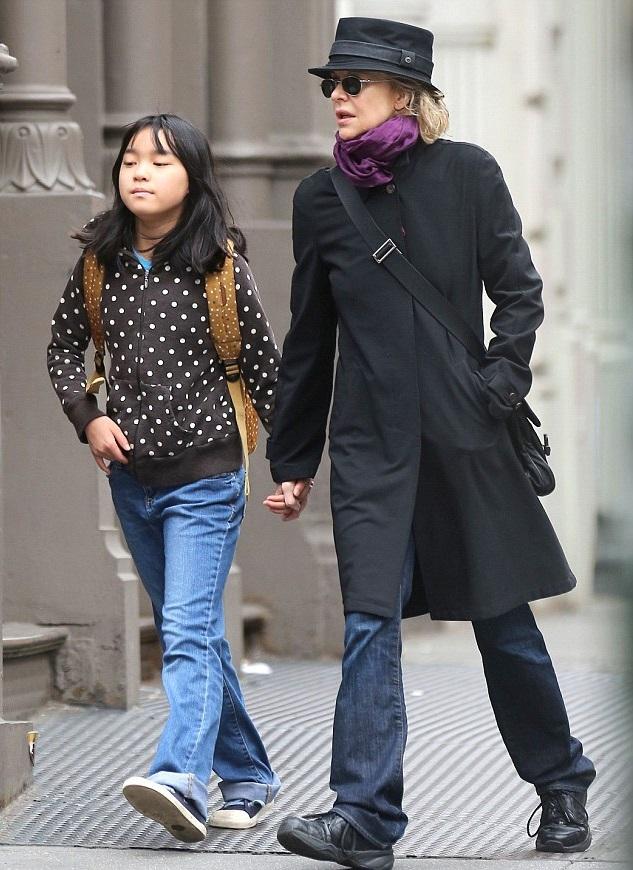 Мег Райан с дочкой