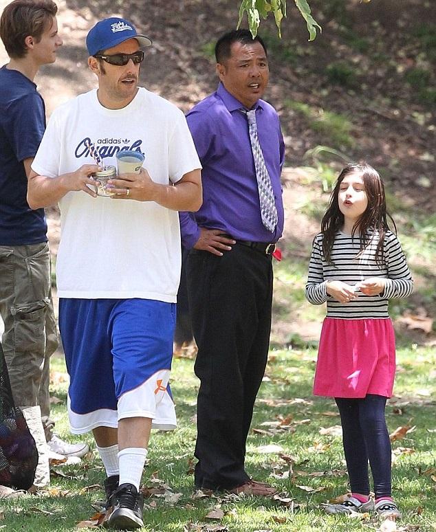 Адам Сэндлер с дочкой