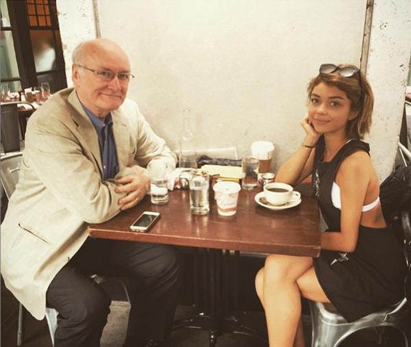 Сара Хайланд отметила праздник с отцом