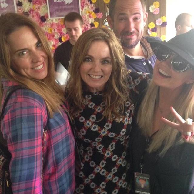 Spice Girls в неполном составе: Джери, Эмма и Мел