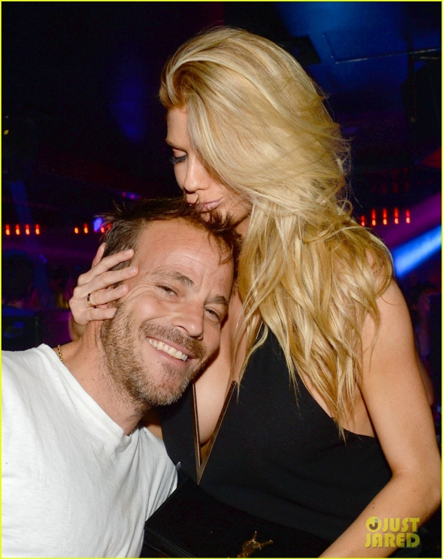 Exclusive... Stephen Dorff & Charlotte McKinney Cozy Up At L'Arc Nightclub