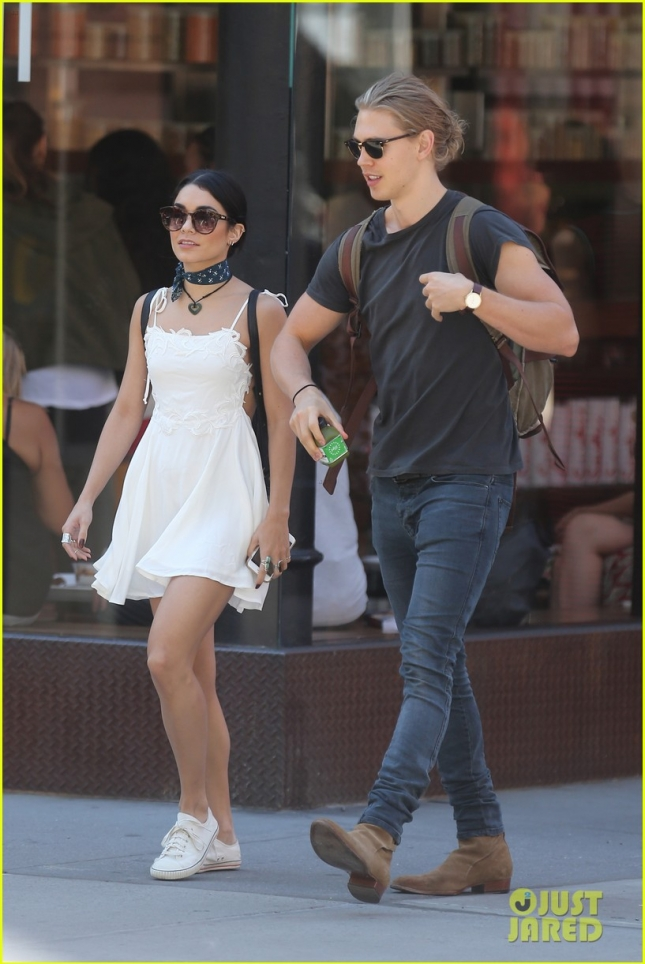Vanessa Hudgens and Austin Butler take a stroll after lunch in Soho