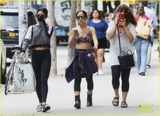 Vanessa Hudgens hits the gym with sister Stella and friend Kim **USA ONLY**