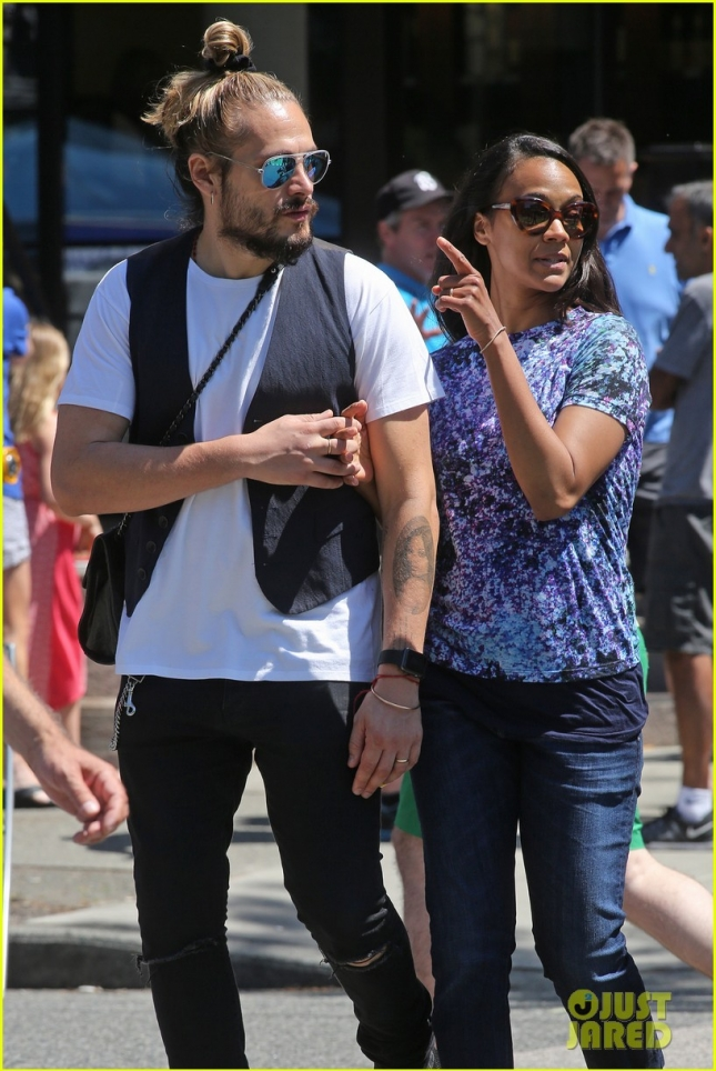*EXCLUSIVE* Zoe Saldana and family enjoy a beautiful Vancouver Day