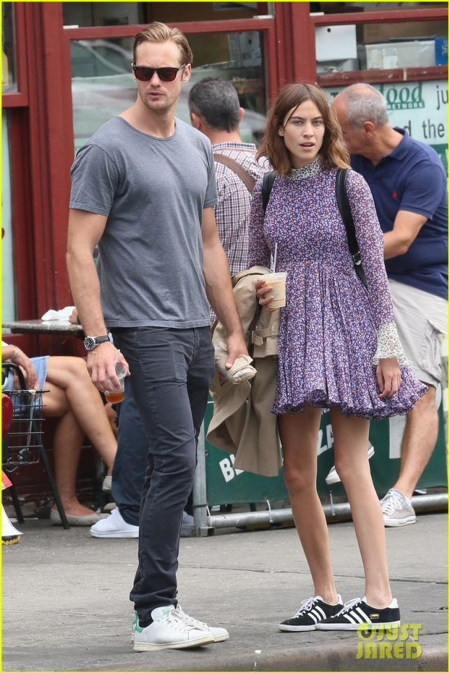Alexa Chung, Alexander Skarsgard Out in the West Village