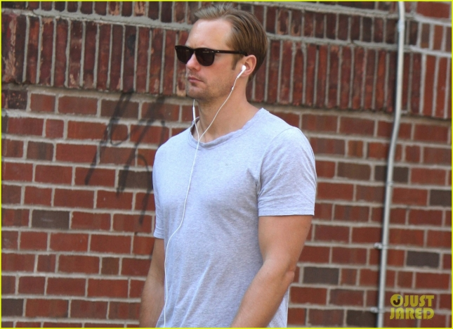 Alexander Skarsgard out and about in NYC