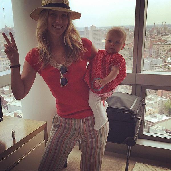 Эли Лартер с дочкой Вивьенн