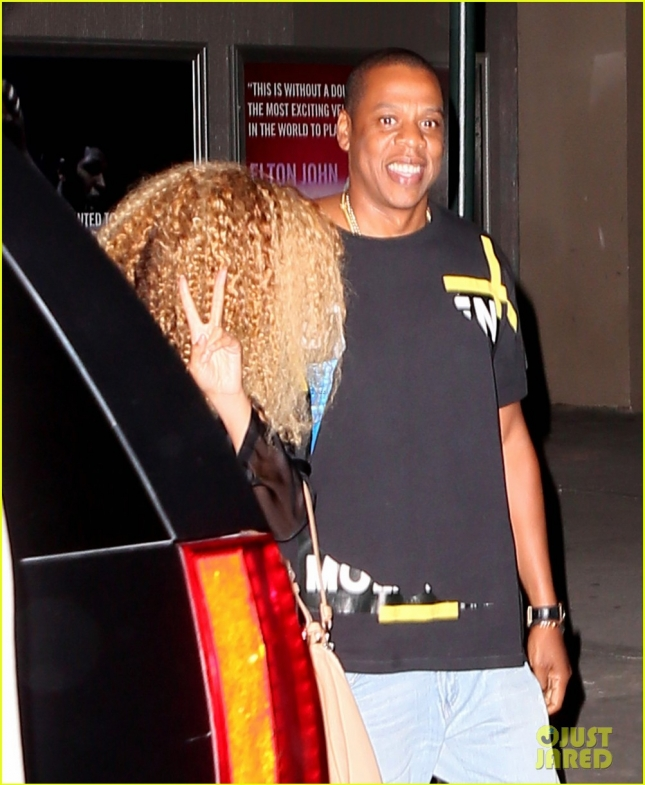 Beyonce and Jay-Z Attend U2 Concert In NYC