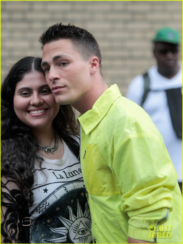 Colton Haynes At Mens Fashion Week In NYC