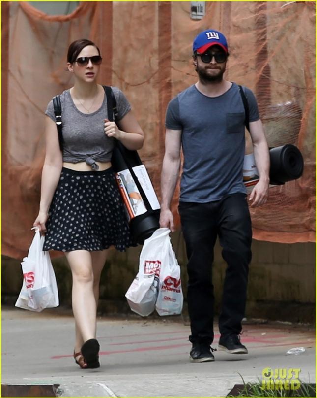 Daniel Radcliffe & Erin Darke Stock Up On Yoga Gear