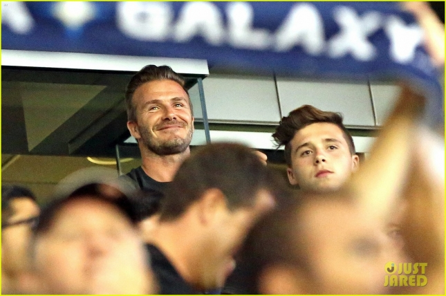 David Beckham & Sons Cheer On Steven Gerrard's MLS Debut For LA Galaxy