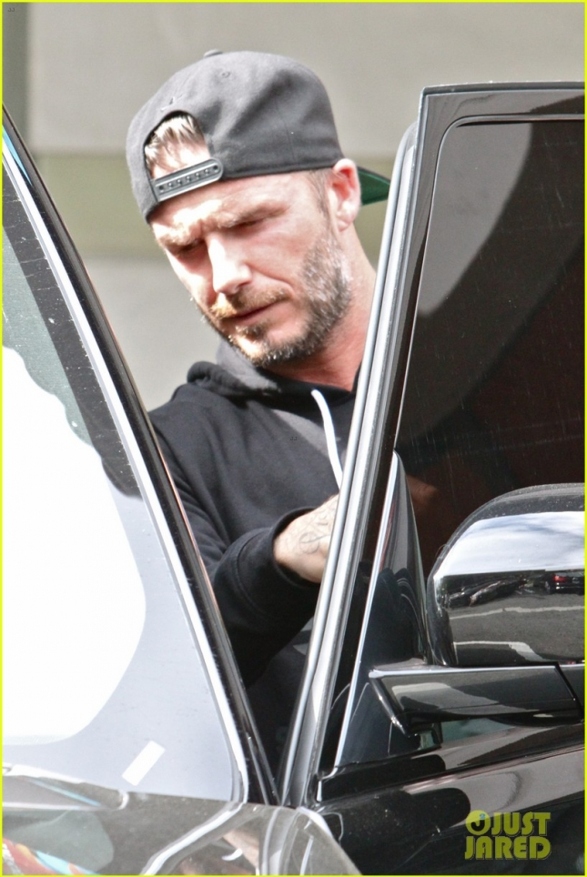 David Beckham is back to his L.A. routine with a SoulCycle class - Part 2