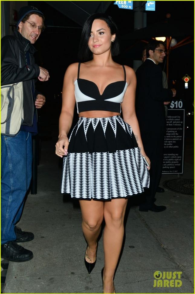 Demi Lovato at Craig's