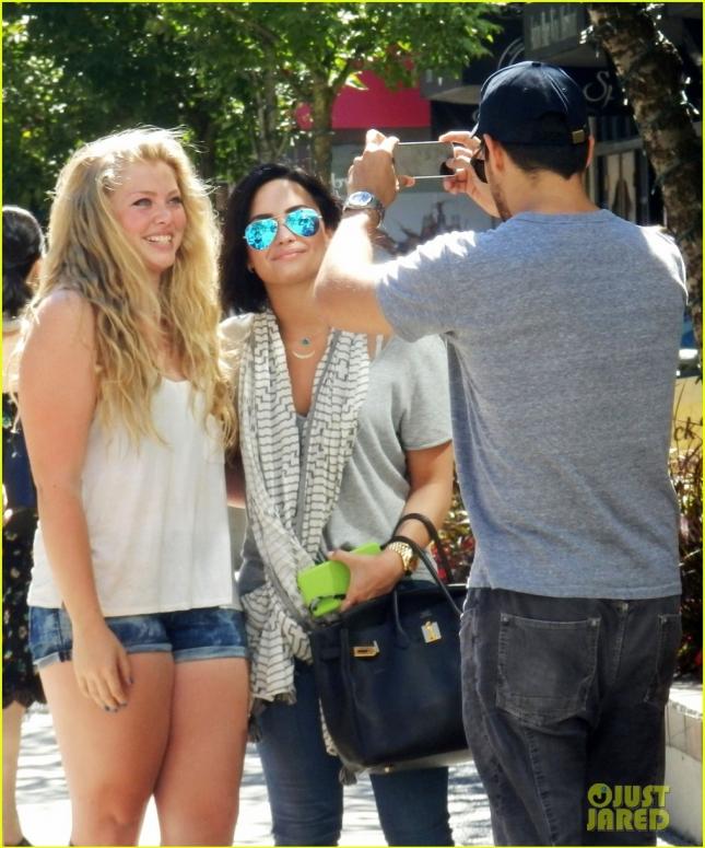 Semi-Exclusive... Demi Lovato & Wilmer Valderrama Step Out In Vancouver