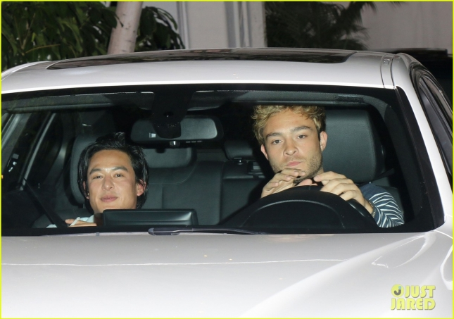 Ed Westwick seen out and about in Chateau Marmont in West Hollywood
