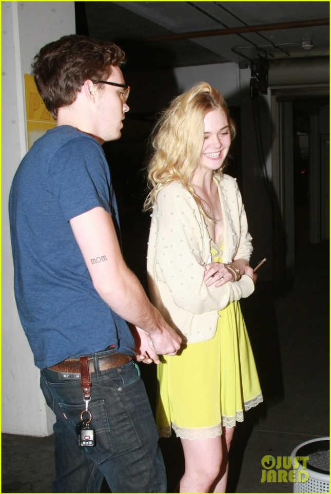 *EXCLUSIVE* Elle Fanning and Zalman Band make it a movie date night
