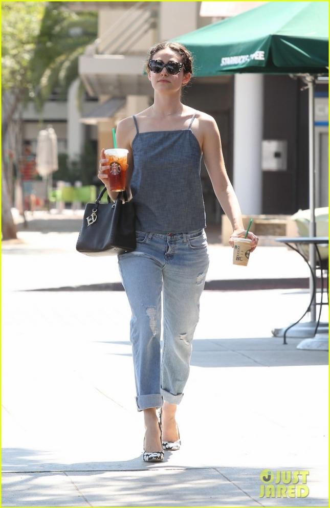 Emmy Rossum Stops By Starbucks