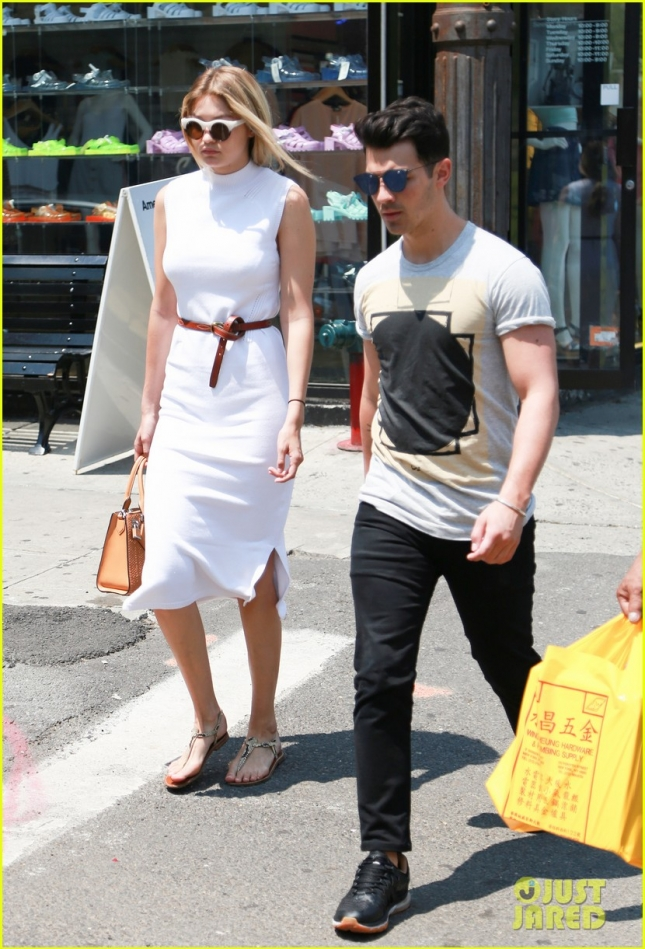 Joe Jonas and Gigi Hadid Seen Out On A Walk