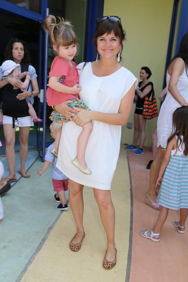 Тиффани Тиссен с дочкой Харпер, 2013 год