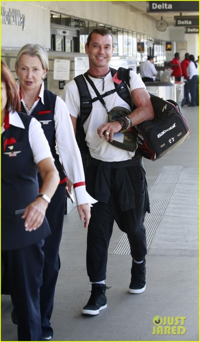 Гевин Россдейл в аэропорту LAX