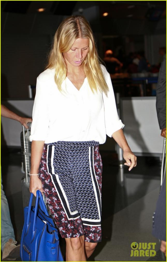 Gwyneth Paltrow Arrives at JFK