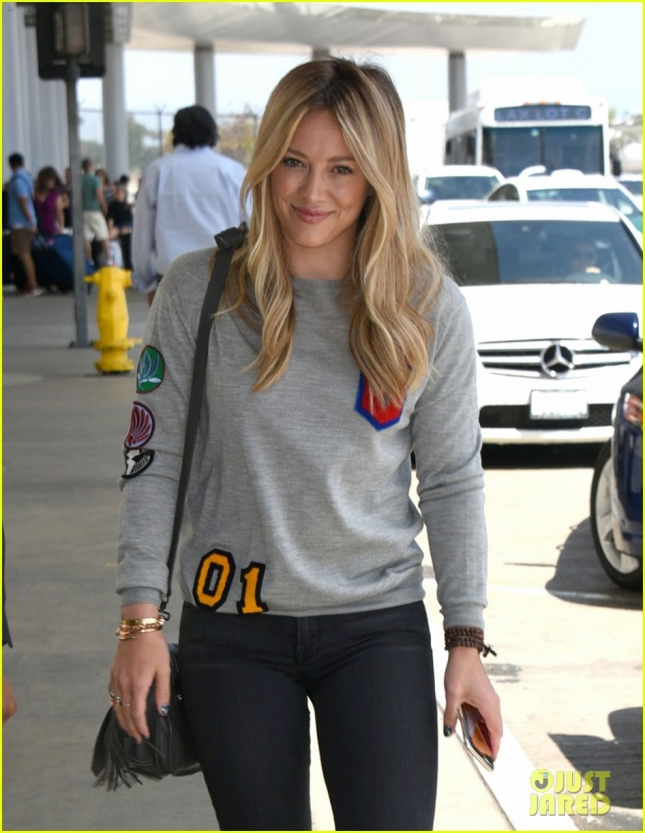 Hilary Duff Catches A Flight At LAX Airport