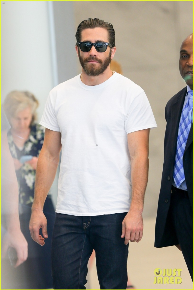 Jake Gyllenhaal spotted leaving the SiriusXm in New York City