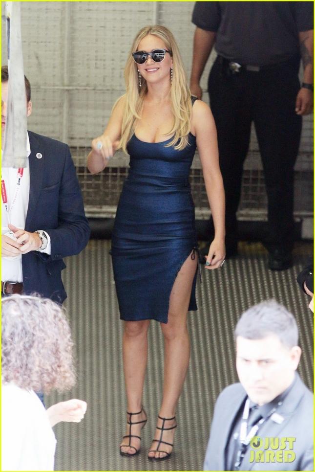 Jennifer Lawrence seen leaving Comic Con in San Diego