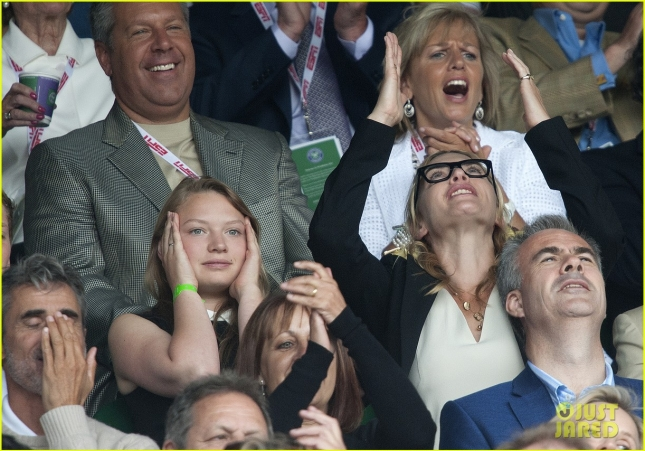 Kate Winslet pictured at the 2015 Men's Singles Final at the All England Lawn Tennis Club in Wimbledon, England