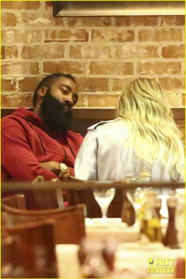 *EXCLUSIVE* Khloe Kardashian and James Harden close down Toscanova on a date night **NO WEB, WEB EMBARGO UNTIL 7/15/15 @ 10:30 AM PST** **MUST CALL FOR PRICING**